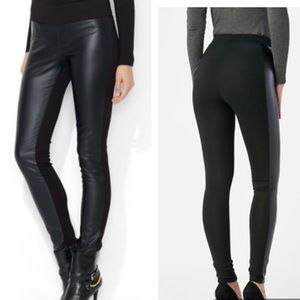 Ralph Lauren Faux Leather Front & Knit Skinny Pant